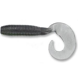 Gary yamamoto - grub single curly tail super - 5 inch - 18-20-002 - smoke