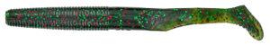 Gary yamamoto - swimsenko - 5.5 inch - 31L-07-222 - WATERMELON WITH RED AND GREEN FLAKE