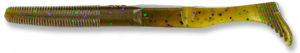 Gary yamamoto - swimsenko - 5 inch - 31-10-301 - Green Pumpkin with Purple & Emerald Flake