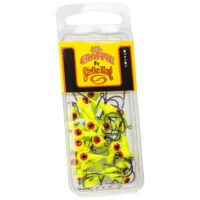 Strike king Lures - Crappie Jigheads Mr. Crappie Jig Heads 25 Pack - MRCJH25PK116-1 - Chartreuse