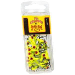 Strikeking - Crappie Jigheads - Mr. Crappie Jig Heads 25 Pack -MRCJH25PK116-1 -Chartreuse