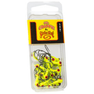 Strikeking - Mr.-Crappie-Jig-Heads 25-Pack - MRCJH25PK18-1 - Chartreuse
