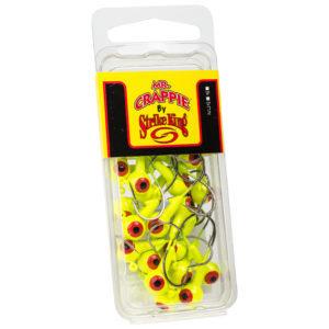 Strikeking - Mr.-Crappie-JigHeads-25Pack - MRCJH25PK18-1 - Chartreuse