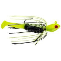 Strike king Lures - Crappie Jigheads Mr. Crappie Krappie Kicker Swim Jig - 1/4oz - MRCSJ14-183 - Tuxedo Black