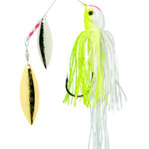 Strikeking - Spinnerbait Bottom Dweller 1-oz - DWEL1-203SG - Chartreuse White