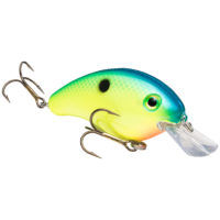Strike king Lures - Crankbait Square Bill Pro Model Series 4S - 9/16oz - HC4S-503 - Blue Back Chartreuse