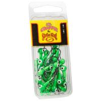 Strike king Lures - Crappie Jigheads Mr. Crappie Jig Heads 25 Pack - MRCJH25PK116-93 - Limetreuse