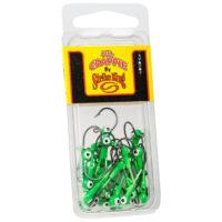 Strike king Lures - Crappie Jigheads Mr. Crappie Jig Heads 25 Pack - MRCJH25PK132-93 - Limetreuse