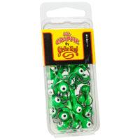 Strike king Lures - Crappie Jigheads Mr. Crappie Jig Heads 25 Pack - MRCJH25PK18-93 - Limetreuse