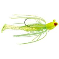 Strike king Lures - Crappie Jigheads Mr. Crappie Krappie Kicker Swim Jig - 1/4oz - MRCSJ14-192 - Electric Lime