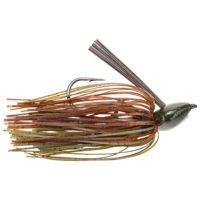 Strike king Lures - jigs - flipping Denny Brauer Baby Structure Jig - 3/8oz - DBBSTJ38-46 - Green Pumpkin