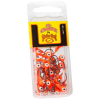 Strike king Lures - Crappie Jigheads Mr. Crappie Jig Heads 25 Pack - MRCJH25PK116-236 - Fluorescent Orange