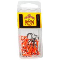 Strike king Lures - Crappie Jigheads Mr. Crappie Jig Heads 25 Pack - MRCJH25PK132-236 - Fluorescent Orange