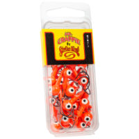 Strike king Lures - Crappie Jigheads Mr. Crappie Jig Heads 25 Pack - MRCJH25PK18-236 - Fluorescent Orange