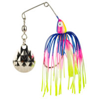 Strike king Lures - Crappie Spinnerbait Mini King Spinnerbait - 1/8oz - MK-670 - Blue Pearl Pink Chartreuse