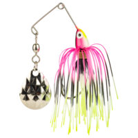 Strike king Lures - Crappie Spinnerbait Mini King Spinnerbait - 1/8oz - MK-679 - Pink Red Blk Wht Chrt