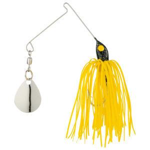 StrikeKing - Crappie Spinnerbait - Micro King Spinnerbait - MC-4 - Black Head Yellow Skirt