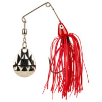 Strike king Lures - Crappie Spinnerbait Mini King Spinnerbait - 1/8oz - MK-69G - Red Shad Head Red Shad Skt