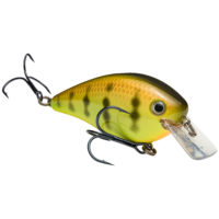 Strike king Lures - Crankbait Square Bill KVD Square Bill 2.5 - 2.5 inch - HCKVDS2.5-650 - Chartreuse Perch