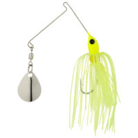 Strike king Lures - Crappie Spinnerbait Micro King Spinnerbait - 1/16oz - MC-70 - Chartreuse Head Chartreuse Skirt