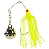 Strike king Lures - Crappie Spinnerbait Mini King Spinnerbait - 1/8oz - MK-70 - Chartreuse Head Chartreuse Skirt