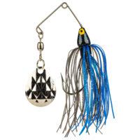 Strike king Lures - Crappie Spinnerbait Mini King Spinnerbait - 1/8oz - MK-76 - Black Blue Head Black Blue Skirt