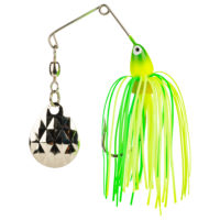 Strike king Lures - Crappie Spinnerbait Mini King Spinnerbait - 1/8oz - MK-93G - Chartreuse Lime Head Chartreuse Lime Skirt