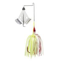 Strike king Lures - Topwater Buzzwait Bleeding Bait Elite Buzz Bait Bleeding - BBEB38-303 - Chartreuse White