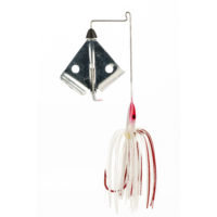 Strike king Lures - Topwater Buzzwait Bleeding Bait Elite Buzz Bait Bleeding - BBEB38-304 - White