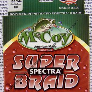MCCOY FISHING LINES - BRAID - MCCOY-BRAID-150-GRN-4LB - MEAN-GREEN