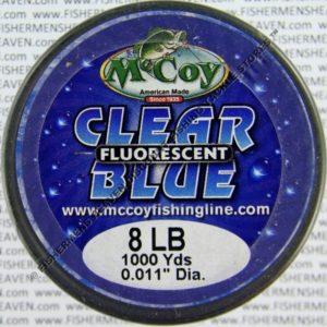 MCCOY FISHING LINES - COPOLYMER - MCCOY-COPOLY-BULK-BLU-8LB - BLUE CLEAR FLUORESCENT