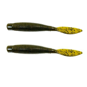 Missile Baits - Soft Plastic Lures Ned Bomb - MBNB325-GP - Green Pumpkin