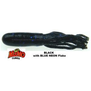 Mizmo-Tubes - 2.75 Inch- Teasers - MIZMO-TT-12PK-30406 - Black with Blue Flake