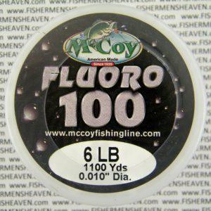 MCCOY FISHING LINES - FLUOROCARBON BULK - MCCOY-FLORO-BULK-6LB - CLEAR 100