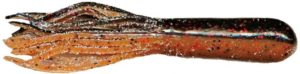 Mizmo Tubes - 4 Inch - Bad Boy Two Tone - MIZMO-LAMT-8PK-44290 - Two Tone Laminates Black with Red Flake Mud Bug Crawfish Brown