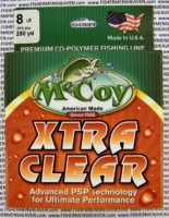 MCCOY FISHING LINES - COPOLYMER - 30LB MCCOY-COPOLY-250-CLR-8LB - EXTRA CLEAR