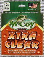 MCCOY FISHING LINES - COPOLYMER - 30LB MCCOY-COPOLY-250-CLR-12LB - EXTRA CLEAR
