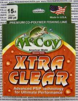 MCCOY FISHING LINES - COPOLYMER - 30LB MCCOY-COPOLY-250-CLR-15LB - EXTRA CLEAR
