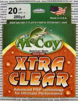 MCCOY FISHING LINES - COPOLYMER - 30LB MCCOY-COPOLY-250-CLR-20LB - EXTRA CLEAR