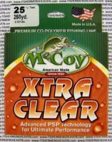 MCCOY FISHING LINES - COPOLYMER - 30LB MCCOY-COPOLY-250-CLR-25LB - EXTRA CLEAR