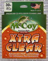 MCCOY FISHING LINES - COPOLYMER - 30LB MCCOY-COPOLY-250-CLR-30LB - EXTRA CLEAR