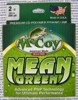 MCCOY FISHING LINES - COPOLYMER - MCCOY-COPOLY-250-GRN-2LB - MEAN GREEN