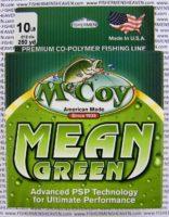 MCCOY FISHING LINES - COPOLYMER - MCCOY-COPOLY-250-GRN-10LB - MEAN GREEN