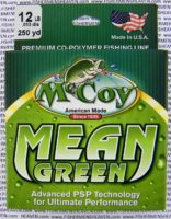 MCCOY FISHING LINES - COPOLYMER - MCCOY-COPOLY-250-GRN-12LB - MEAN GREEN