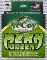 MCCOY FISHING LINES - COPOLYMER - MCCOY-COPOLY-250-GRN-20LB - MEAN GREEN
