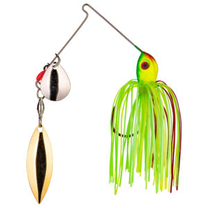 Strike King Lures – Spinnerbaits – Colorado Willow – 3/16oz - BB316CW-317SG - Fire Tiger