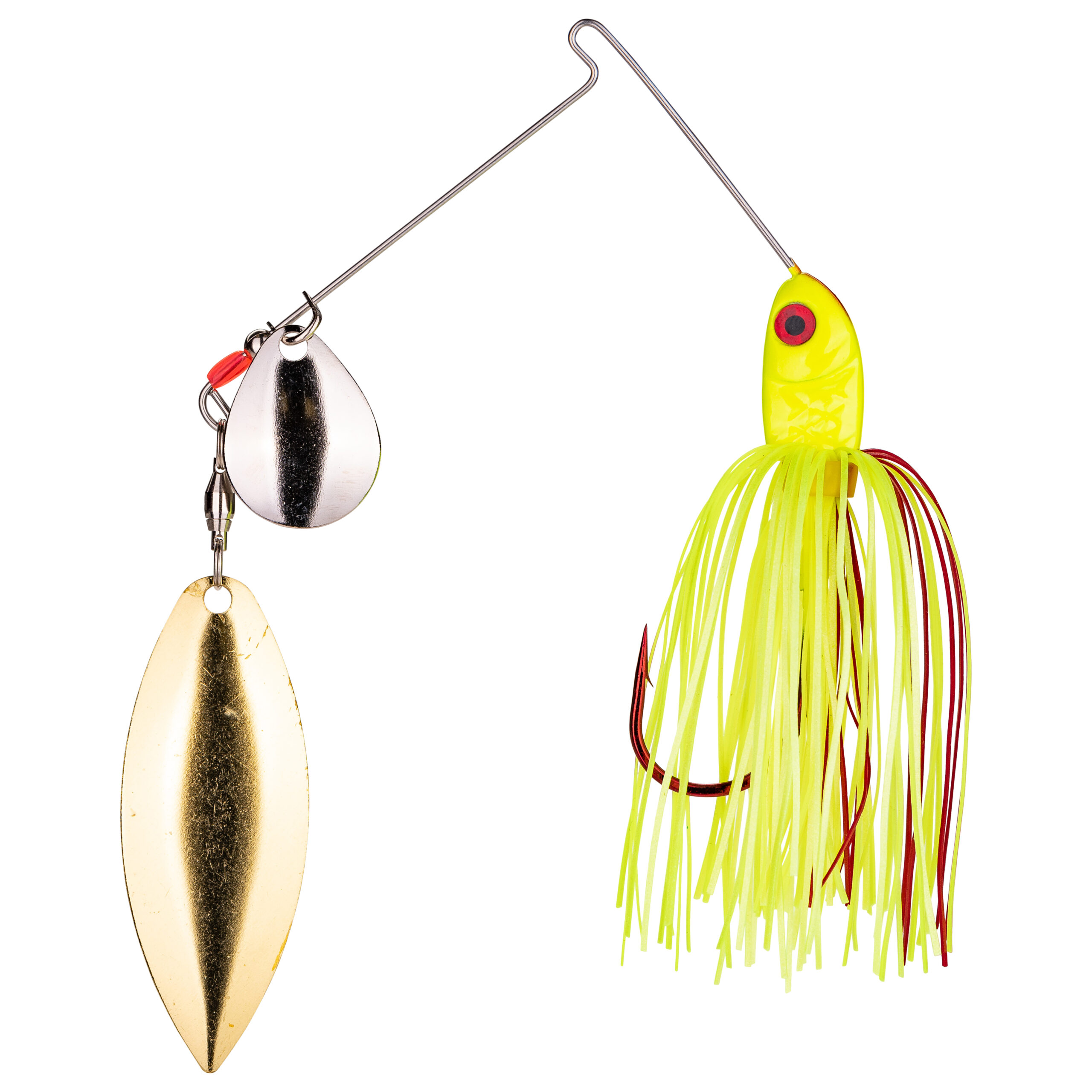 Strike King Lures – Spinnerbaits – Colorado Willow - 3/8oz - BB38CW-301SG - Chartreuse
