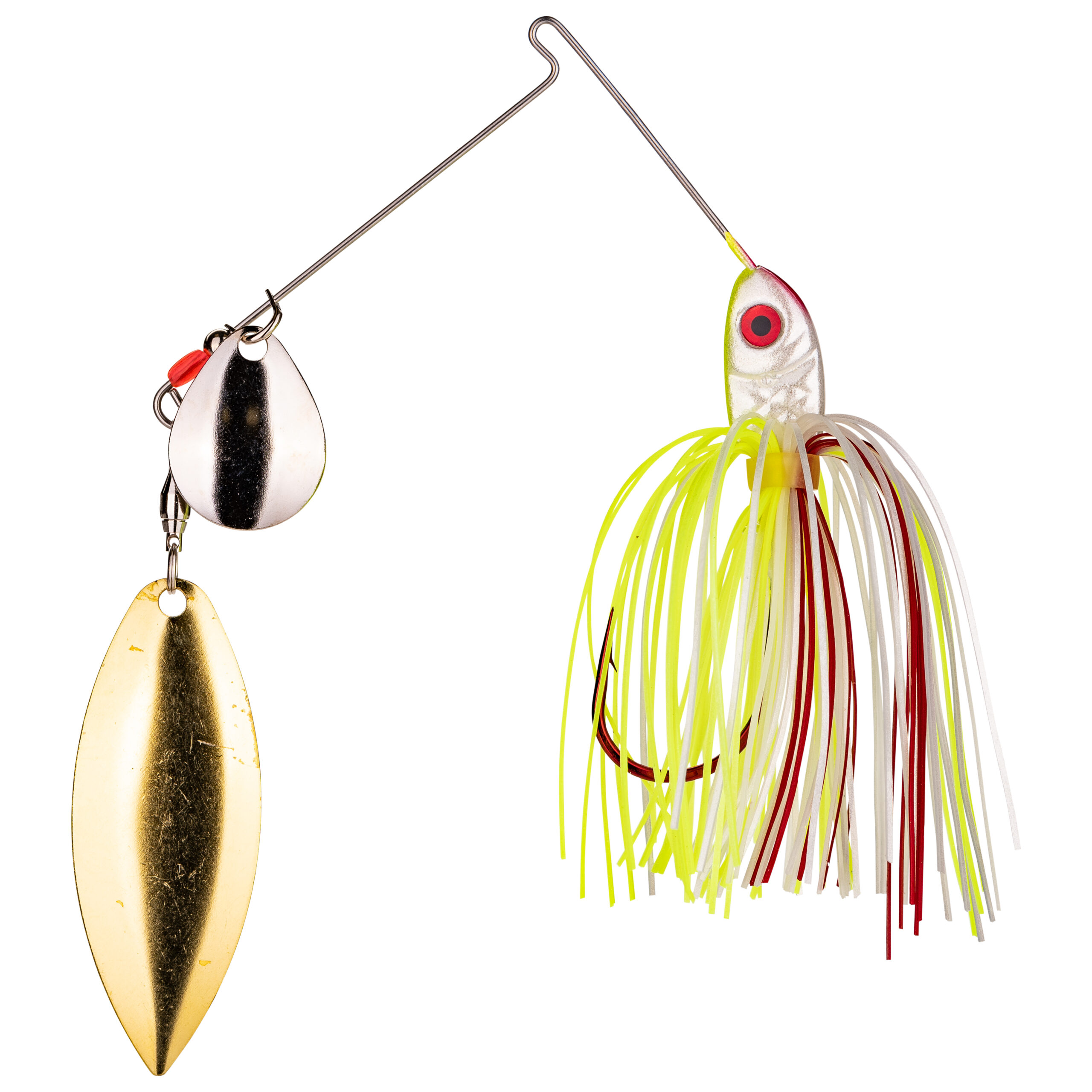 Strike King Lures – Spinnerbaits – Colorado Willow - 3/8oz - BB38CW-303SG - Chartreuse White