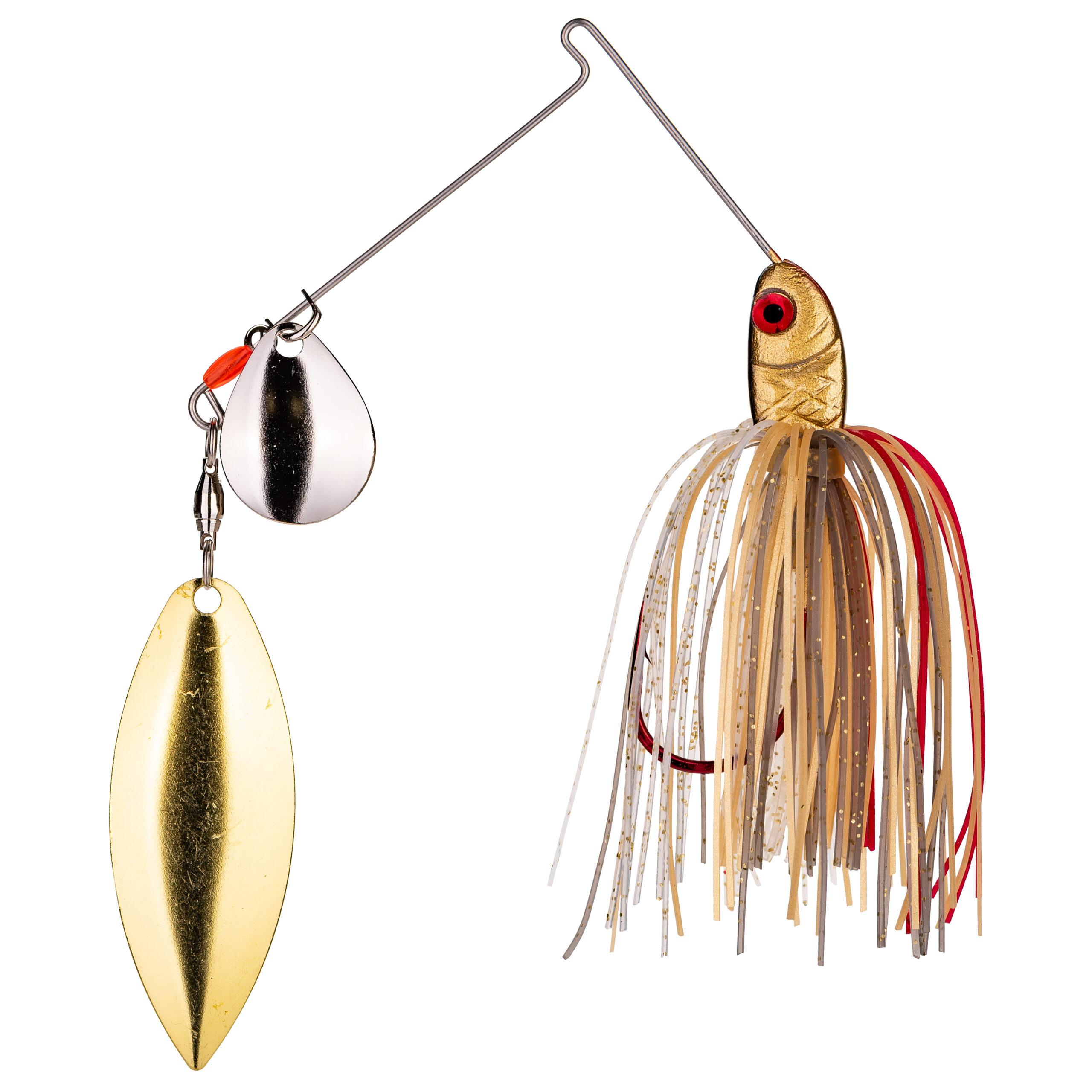 Strike King Lures – Spinnerbaits – Colorado Willow - 3/8oz - BB38CW-315SG - Gold Shiner