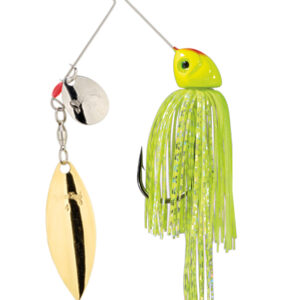 Strike King Lures – Spinnerbaits – Colorado Willow – Hack Attack Heavy Cover - 3/4oz -HAHC34CW-201SG -Chartreuse White